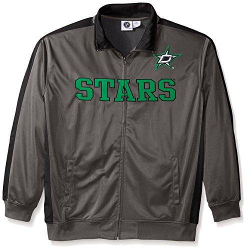 NHL Dallas Stars Men's Tricot Track Jacket, 5X, Charcoal