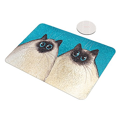 Himalayan Cat Art - Silly Himalayan Kitties Abstract Cat Art by Denise Every - Space Case by New Vibe Glass Cutting Board