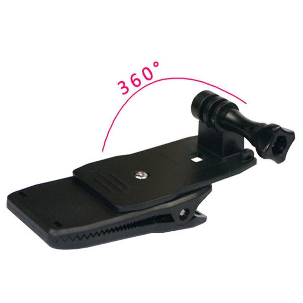 O RLY Soporte de correa para mochila con clip para c/ámara de acci/ón GoPro Hero 4 5 6 Cam SJCAM SJ4000 SJ5000 Action Camera