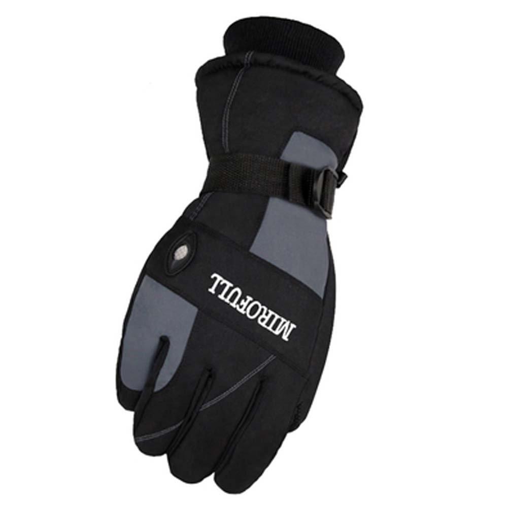 Black Temptation Guantes Impermeables a Prueba de Viento Caliente del esquí esquí Engranaje Guantes de los Deportes de Invierno para los Hombres, 04