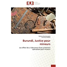 BURUNDI, JUSTICE POUR MINEURS