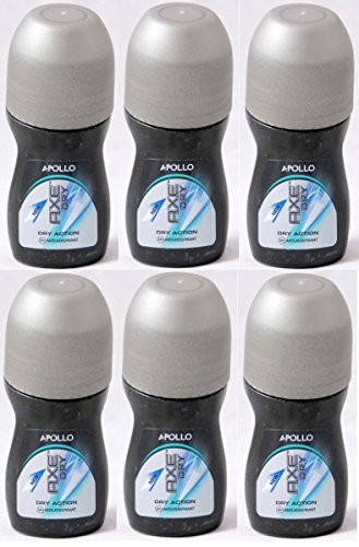 Axe DRY Roll On for Men, Anti-Perspirant & Deodorant, Apollo, 50 Ml / 1.69 Oz (Pack of 6)