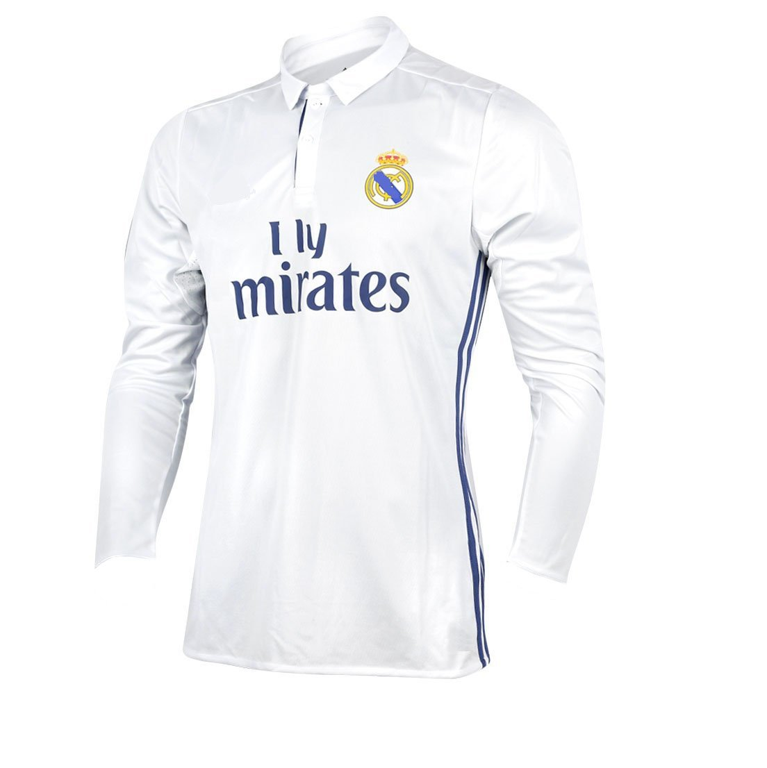 newest 2736a 51993 Marex Men's Real Madrid Home Football/Soccer Jersey- White Color with  Ronaldo writen at Back
