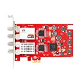 TBS®6908 PCI-E DVB-S2 Professional PCTV Quad Tuner Card for Satellite DVB-S2/DVB-S QPSK, 8PSK, CCM, ACM, VCM, Multi Input Stream, 16APSK,32APSK,Generic Stream Mode