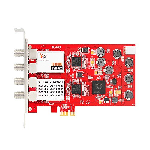 - TBS DVB-S2 Professional Quad Tuner PCI Express Digital Satellite TV Card with Unique DVB-S2 Demodulator Chipset for Receive Special Broadcasted, 16APSK,32APSK
