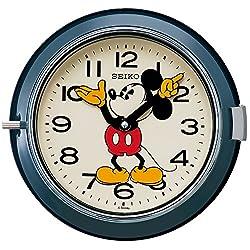 SEIKO CLOCK Disney Mickey Mouse quartz wall clock (steel-blue paint) FS504L