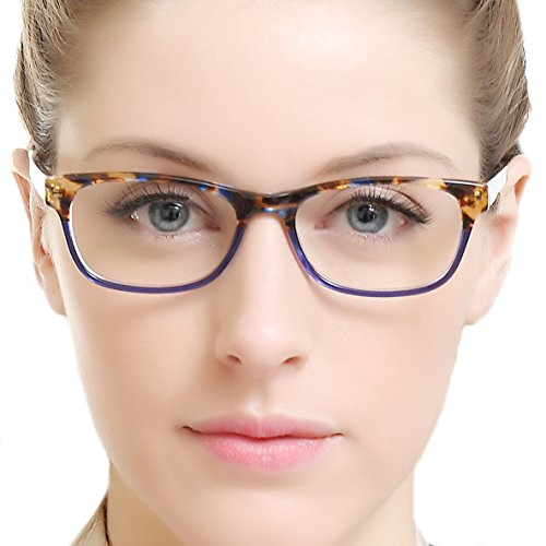 OCCI CHIARI Rectangle Stylish Eyewear Frame Non-prescription Eyeglasses With Clear Lenses Gifts for Women