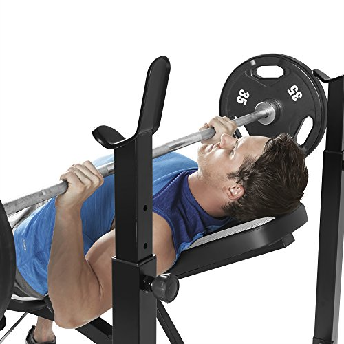 Marcy Olympic Multipurpose Weightlifting Workout Weight Bench with Leg Developer MWB-4491