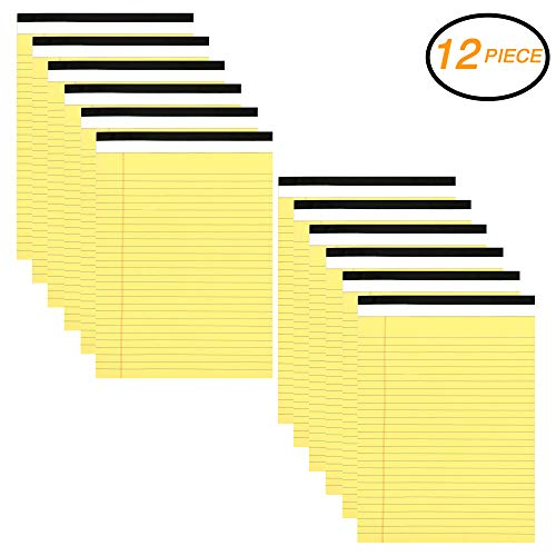 Emraw Canary Yellow Micro Perforated Edge Legal Ruled Universal 50 Sheets Letter Size Writing Pad - 50 Ct. 8.5