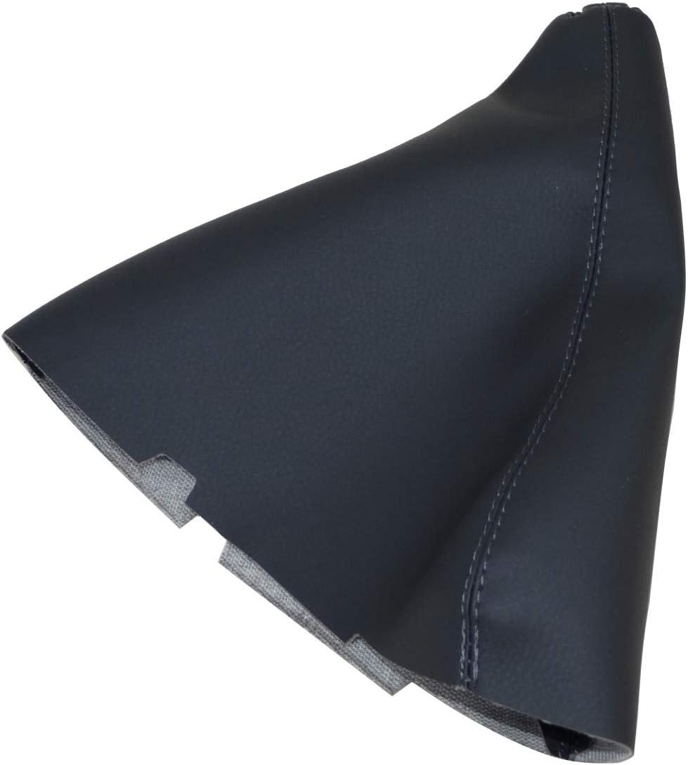 AERZETIX Funda para palanca de cambios de piel sint/ética con costuras de colores variables gris oscuro