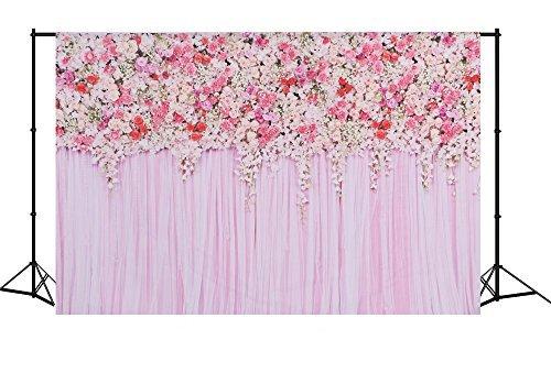 MEHOFOTO Flower Photo Backdrop Seamless Vinyl Photography Background Studio Lilac Backdrop 75ft