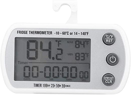Refrigerador Termómetro, LED Digital Impermeable Refrigerador ...
