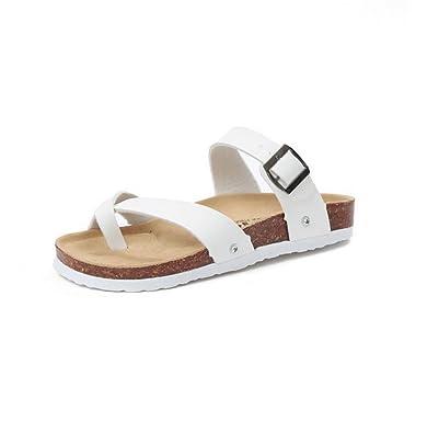 Frau Sommer Flachboden Hausschuhe,Mode Freizeit Rutschhemmende Sandalen-A Fußlänge=22.3CM(8.8Inch)