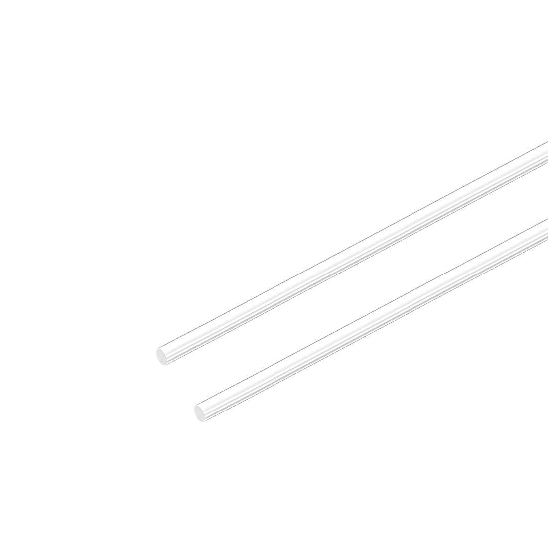 Sourcing Map 2mm Diam x 20 Acrilico Lunghezza Asta Rotonda,Acrilico Trasparente Aste Plexiglass Barre Pmma