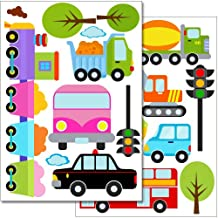 Wandkings wall stickers Car World Sticker Set – 20 stickers on 2 US letter sheets (each 8.3 x 11.7 inch)