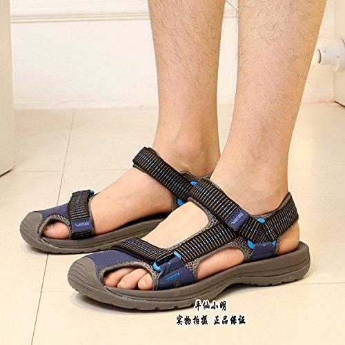 Xing Lin Sandalias De Hombre Los Hombres Sandalias Tendencias Baotou Ocio Calzado Outdoor Beach Slip 7601 blue