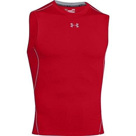 6da8a9276d9585 Amazon.com  Under Armour UA HeatGear Armour Compression Shirt XL Red   Sports   Outdoors