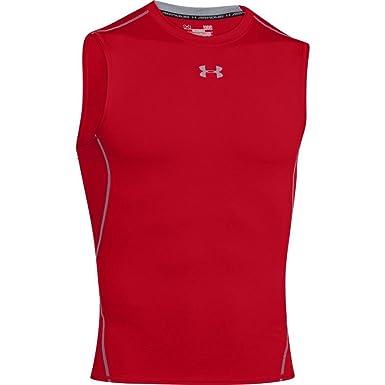 d70a3aef9 Under Armour Men's Tank Top UA HeatGear Armour, Breathable Sleeveless T  Shirt, Red (