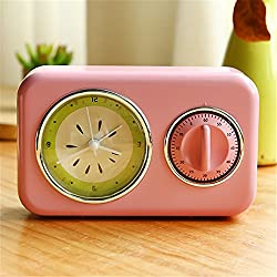 RFVBNM Pink Alarm Clock Stylish Personality Sleepy Creative Alarm Clock Bedroom Home Office Cute Alarm Clock Gift For Girls 17.110.44.5Cm