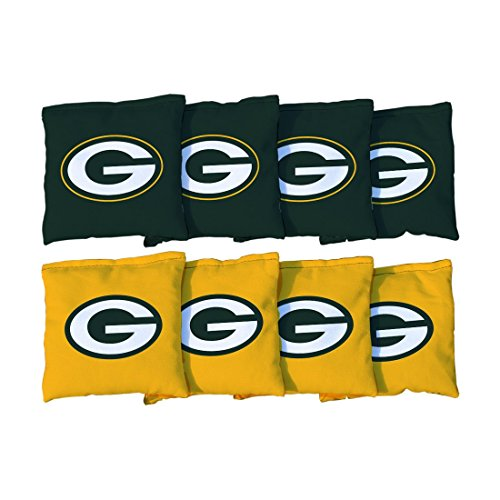 Victory Tailgate Green Bay Packers NFL Cornhole Game Bag Set (8 Bags Included, Corn-Filled)