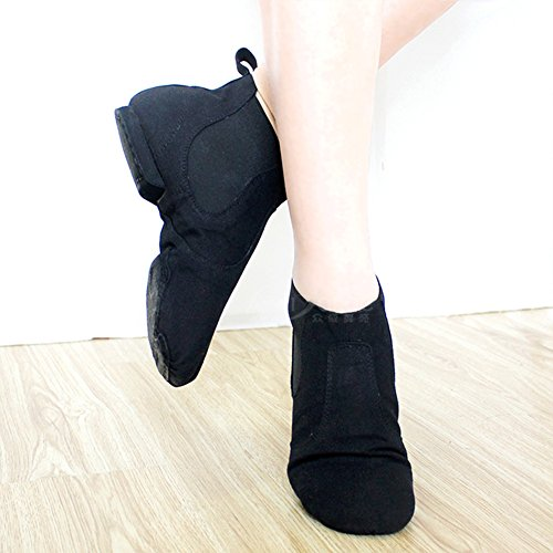 Ballet Unsex Canvas Boot Modern Dance on Stage Sole Jazz Slip Soft Black Shoes gwqYxRHwS