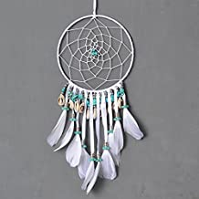 Dremisland Authentic Native American Dream Catcher Tapestry Europe White Wall Hanging Dream Catcher for Room Car Decorate