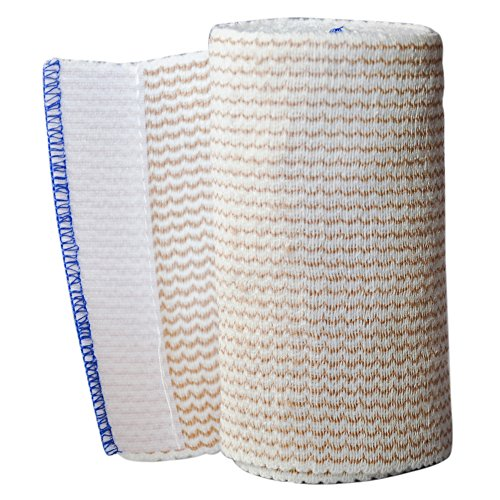 Spa Slender Body Wrap Cotton Elastic 4 inch Wide Bandages Latex Free (Pack of (Latex Free Elastic Wrap)
