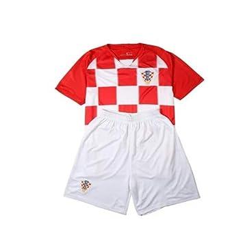 shi1 8sport tisches Croacia Camiseta Infantil de fútbol Ropa Traje 2018 Fans Souvenir Fútbol Ropa Primaria