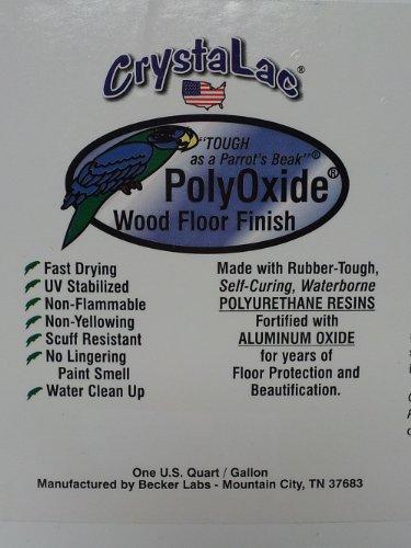CrystaLac PolyOxide Wood Floor Finish (Clear Satin; 5 Gallon Pail) (Crystalac Finishes)