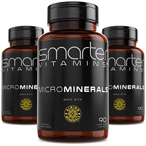 (3 Bottles) Powerful ZINC Glycinate from Albion® Boosted with 5 Extra Essential Trace Minerals to Support Metabolism, DNA and Enhanced ZMA Supplement 90 Plant-Based Vegan Capsules