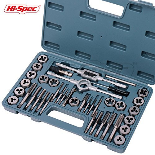 Metric Taper Thread (Hi-Spec 39 Piece Tap and Die Set Machinist Standard Tapered & Plug Hand Tapping, Cutting, Threading, Forming, and Chasing Thread Kit with SAE & Metric Measurements for Garage, Workshop & Mechanics Use)