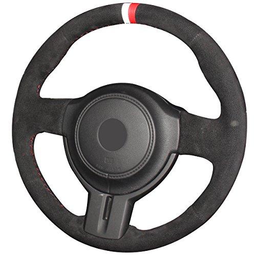 - JI Loncky Black Suede Auto Custom Steering Wheel Covers for 2013 2014 2015 2016 Scion FR-S / 2013-2016 Subaru BRZ/Toyota 86 Accessories