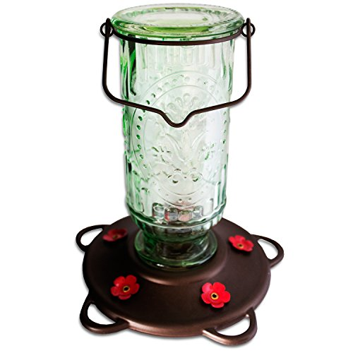 Best Nectar Feeder for Hummingbirds - Beautiful Design with 5 Feeding Spouts - Perfect for Ruby Throated Hummingbirds and - Independence Mall The Open Today Is