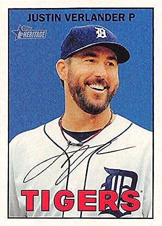 Justin verlander baseball card detroit tigers p 2016 topps justin verlander baseball card detroit tigers p 2016 topps heritage 420 sciox Gallery