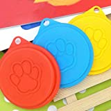 Idealhere 2x Pet Dog Cat Food Storage Can Tin Cover Lid Top Cap Reusable