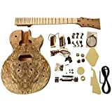 GDLP710MS DIY electric guitar kits, style Solid Mahogany body with Spalted Maple Veneer (Set in Neck)