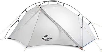 Naturehike VIK - Tienda de campaña Ultraligera para 4 Estaciones de campaña con Huella - 15D más Ligera portátil para Camping, Senderismo con Bolsa de ...