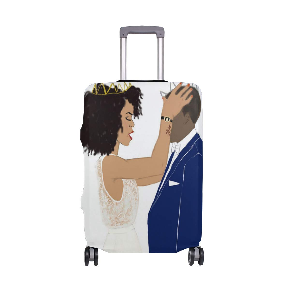 African American Love Luggage Covers Suitcase Protector Jacket Dust-proof Anti-thief Dust-proof Case Fits 18-32 Inch Luggage