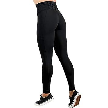 WHFDDDK Mujeres Deporte Leggings sin Costuras Mujer Cintura ...