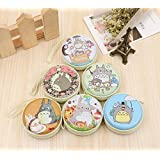 16495b0fa7 Thedmhom 6 Pcs 2018 New Cute Kawaii Animal Cartoon Anime Cat Waterproof  Zippered Totoro Coin Purse