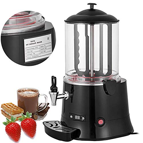 VEVOR Commercial Hot Chocolate Machine 400W Cocoa Melting Beverage Dispenser 10 Liter Milk Frother Digital Control for Restaurants Bakeries Cafes
