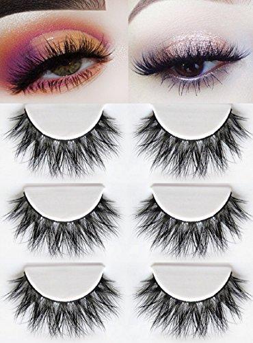 3D Mink Fake Eyelashes -100% Siberian Mink Fur