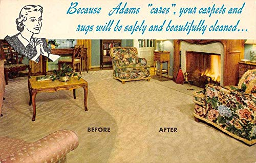 Philadelphia Pennsylvania Adams Rug Cleaning Advertising Vintage Postcard J78097