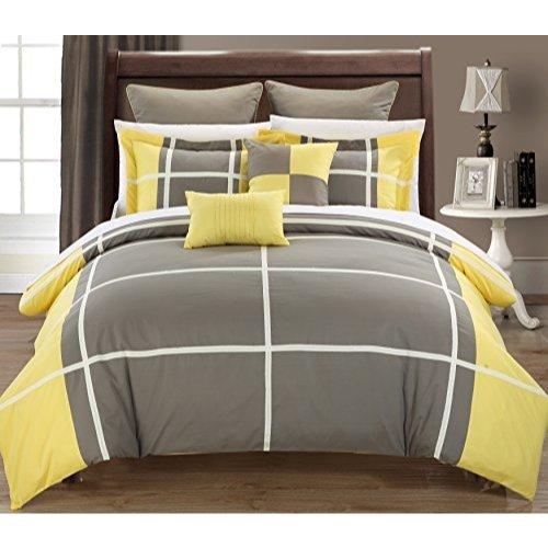 Regency Comforter - Chic Home 7-Piece Regency Comforter Set, Queen, Yellow