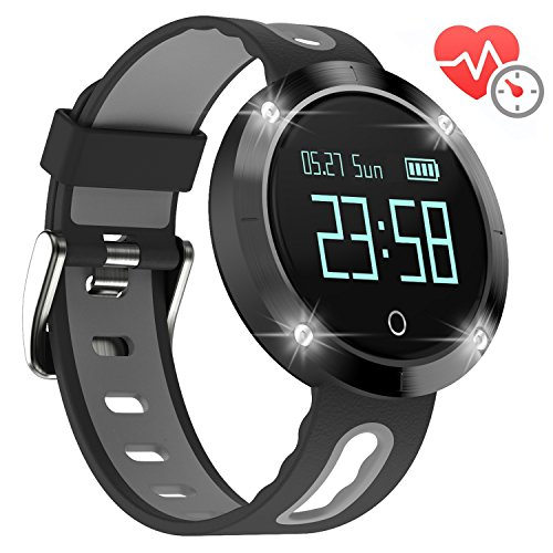 Arvin Heart Rate Watch, Blood Pressure Monitor Smart Watch Sports Bracelet Wristband Activity Tracker Fitness Bracelet Cardio Watch with Pedometer Sleep Monitor for iPhone IOS Android