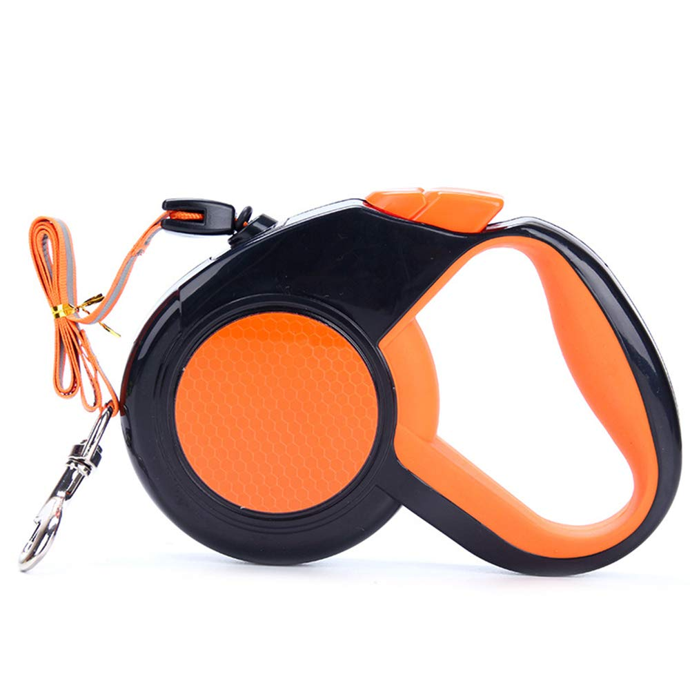 orange 5m orange 5m Dog Training Lead Retractable for Walking No Tangle,Reflective Running Hiking for Small Medium Large Dog Cat, 3M 5M,orange,5m