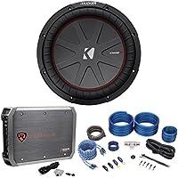 Kicker 43CWR122 COMPR12 1000 Watt 12 Car Subwoofer Sub+Mono Amplifier+Amp Kit