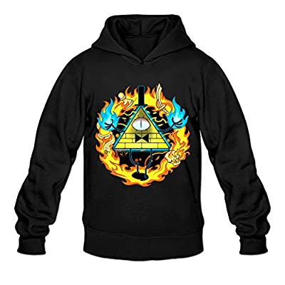 DVPHQ Men's Design Gravity Animated Film Falls Hooded Sweatshirt Black