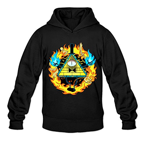 [DVPHQ Men's Gravity Animated Film Falls Hooded Sweatshirt Size M Black] (Assassins Creed Unity Costume Customization)