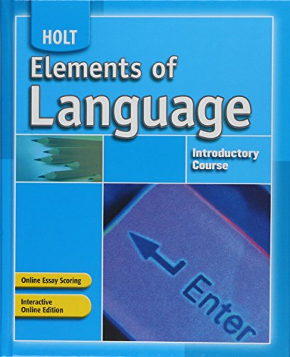 Elements of Language: Student Edition Introductory Course -